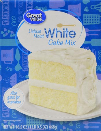 Great Value Cake Mix Deluxe Moist White 165 oz Walmartcom