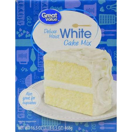 Great Value Cake Mix Deluxe Moist White 165 Oz