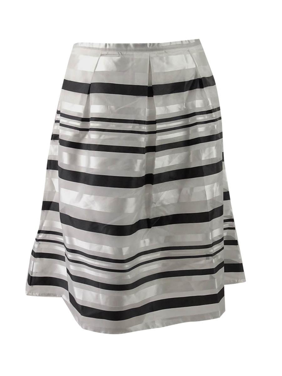 City Chic Women's Trendy Plus Size Metallic A-Line Skirt