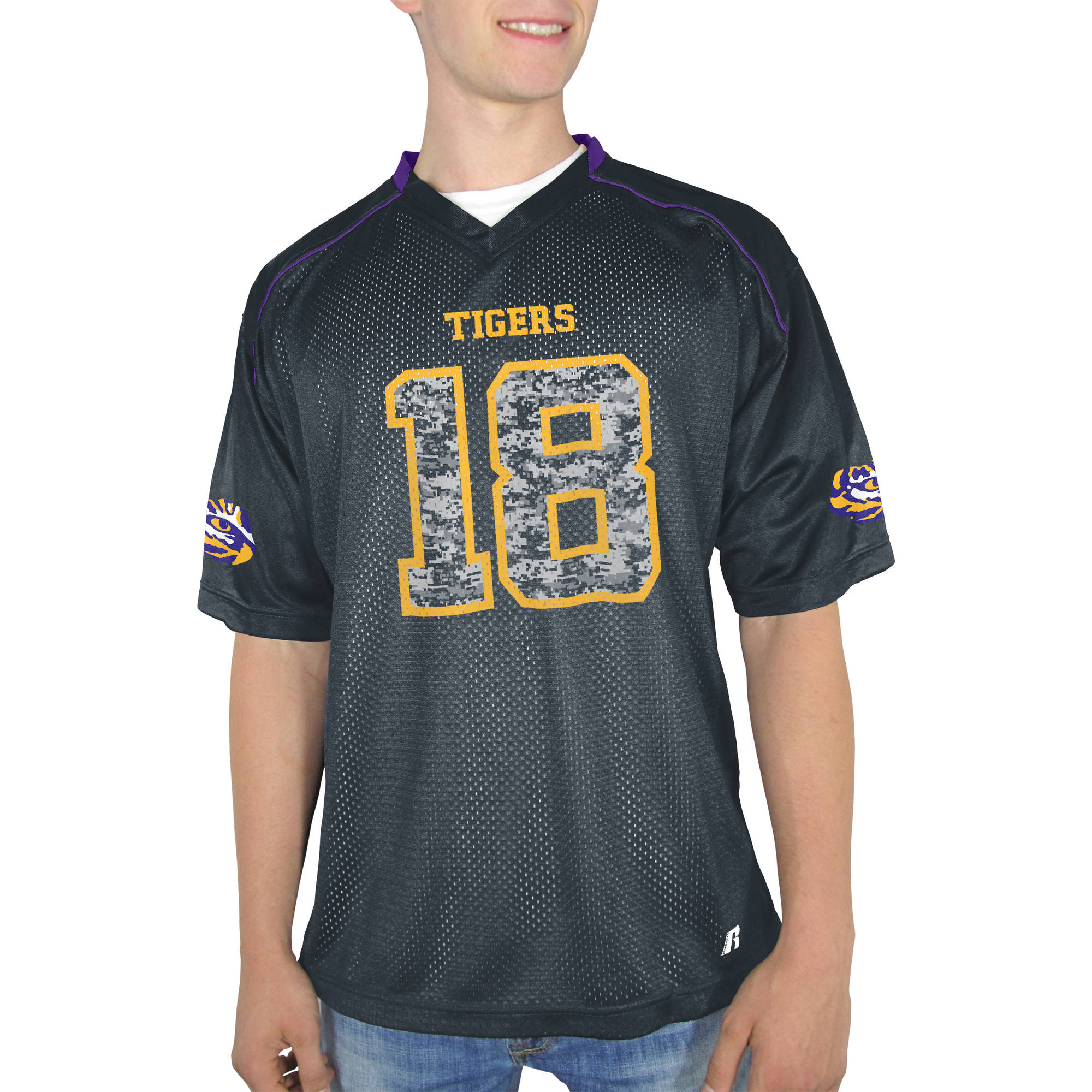 Russell NCAA LSU Tigers Men's    Jersey