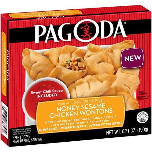 Pagoda® Honey Sesame Chicken Wontons 6.71 oz. Box