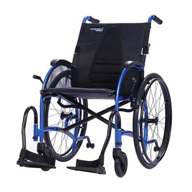 strongback 1007 24 in. ergonomic lightweight manual wheelchair - regular seat