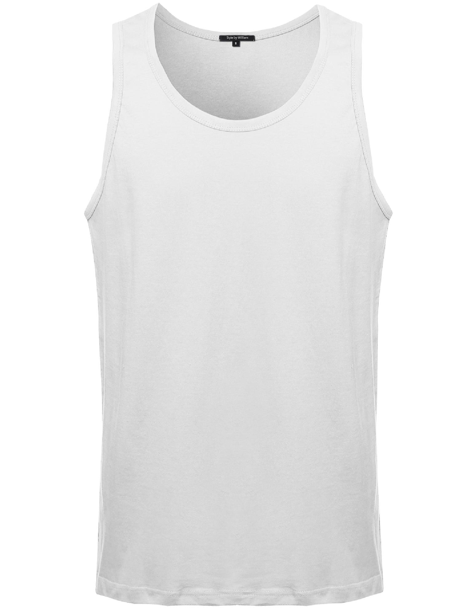 FashionOutfit Men's Premium Basic Solid Tank Tops in Various Colors