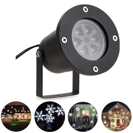 YK2281 12W Snowflake Projection LED Stage Lights Waterproof Cool White Christmas Laser Projector AC 100 240V Cool White Light