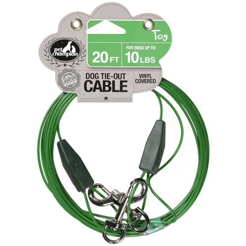 Pet Champion 20 ft Toy Dog Tie-Out Cable