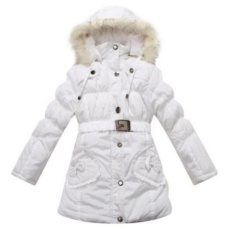 59f36fff64c9 Richie House - Little Girls Snow Padded Belt Faux Fur Hood Winter ...