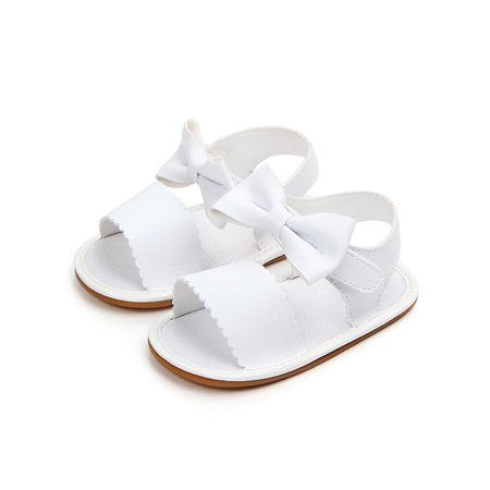 Cute Summer Sandals (BOBORA Cute Baby Girl Summer PU Leather Bow-knot Sandals Shoes )