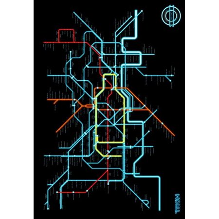 Tron Legacy Movie poster #A04 Subway Style Map Metal Sign 8inx 12in