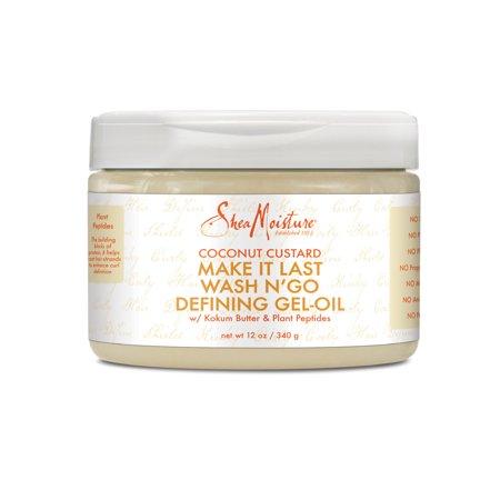 SheaMoisture Coconut Custard Make It Last Oil-Gel Curl Definer, 12 oz