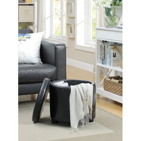 Convenience Concepts Designs4Comfort Round Accent Storage Ottoman ()