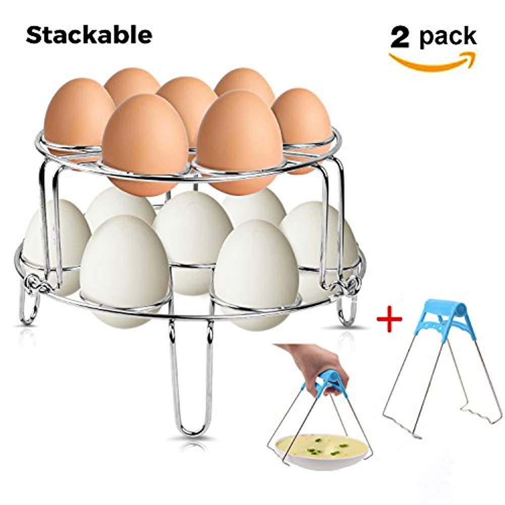 Squad Marketing Stackable Egg Steamer Rack Trivet New For Instant Pot Stainless Steel Stand Steaming For Pressure Cooker In Kitchen