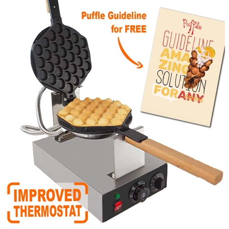 Puffle Waffle Maker Professional Rotated Nonstick (Grill / Oven for Cooking Puff, Hong Kong Style, Egg, QQ, Muffin, Cake Eggettes and Belgian Bubble Waffles) (110V, Puffle maker FY-6 Modernized) - Halloween Menu Hong Kong