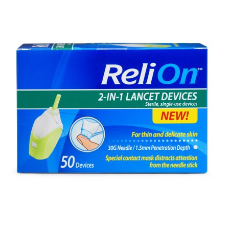 ReliOn 30 Gauge Needle 2-In-1 Lancing Device, 50 Ct - Syringe Pen