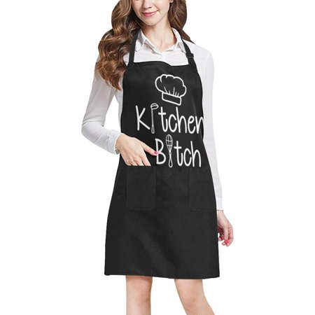 ASHLEIGH Funny Quotes Sayings Apron, Kitchen Unisex Adjustable Bib Apron with Pockets for Women Men Girls Chef for Cooking Baking Gardening Crafting - Kitchen Apron Sayings