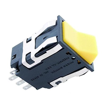 Illuminated Rocker Switches DPST 2 Position 14V 1 Lamp Rocker Switch ()