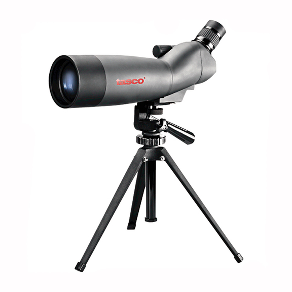 Tasco World Class Spotting Scope 20-60x60mm, Gray Black Porro Prism, 45 Degree Eyepiece by Tasco