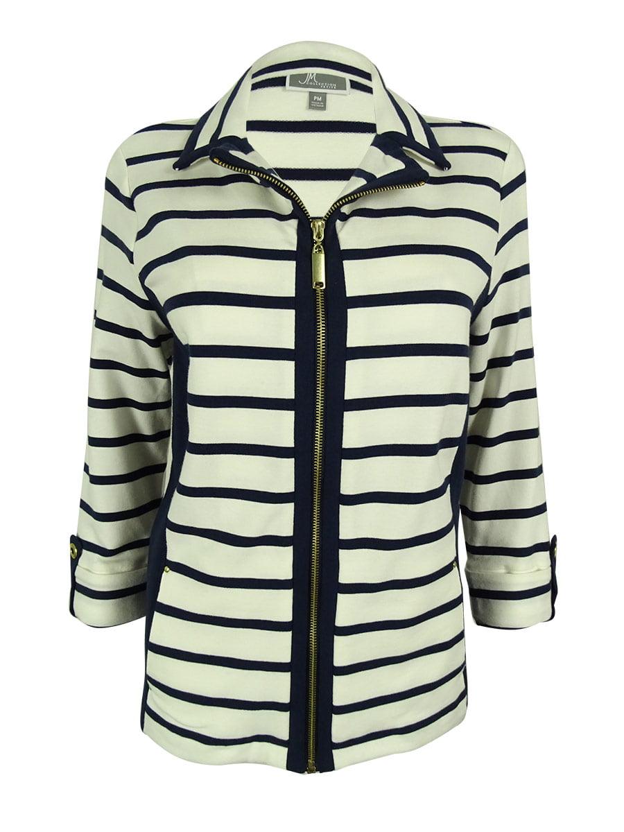 Women's Striped Zip-Front Jacket