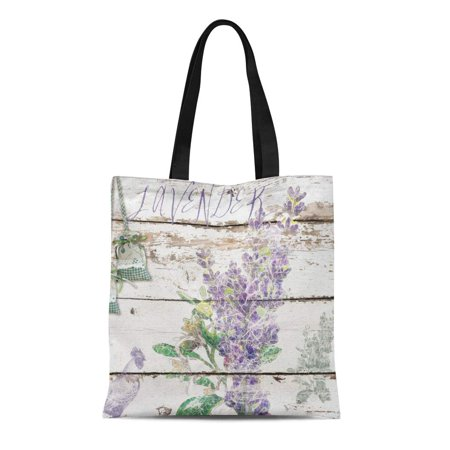 SIDONKU Canvas Tote Bag Provence Vintage Lavender Cockerel Wooden Shabby Chic Country Rustic Reusable Handbag Shoulder Grocery Shopping Bags (Eco Chic Reusable Bags)