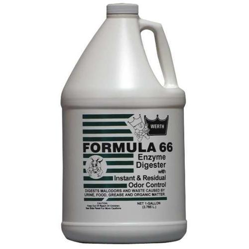 WERTH SANITARY SUPPLY 100211 Formula 66 Bio-Based Enzyme,1 gal,PK4 G0552240