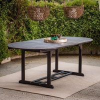 Coral Coast Colter Bay Wood Oval Extension Patio Dining Table