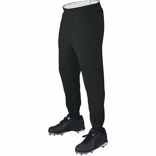 Wilson Basic Adult Baseball Pull-Up Pants with Elastic Waistband, Black by Wilson Sporting Goods
