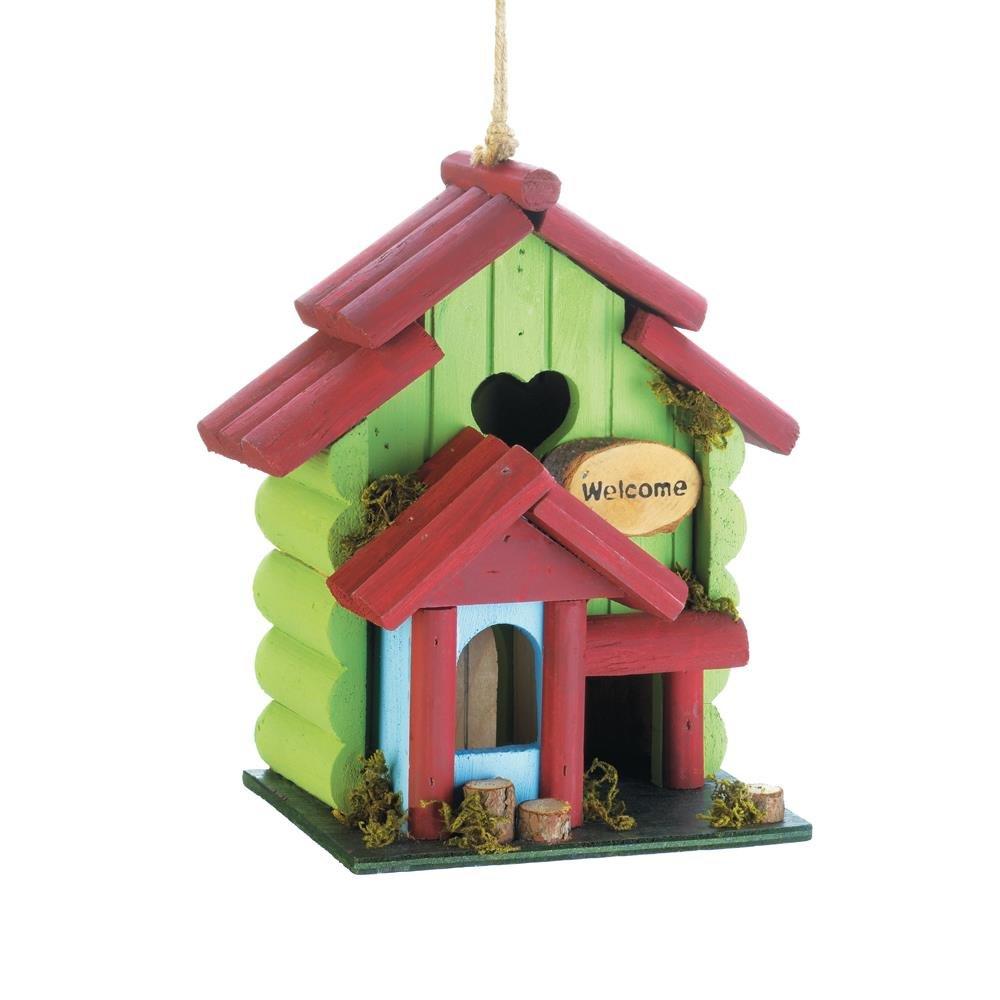 Bird House Decor, Sweetheart Wooden Hanging Outdoor Rustic Decorative Bird House