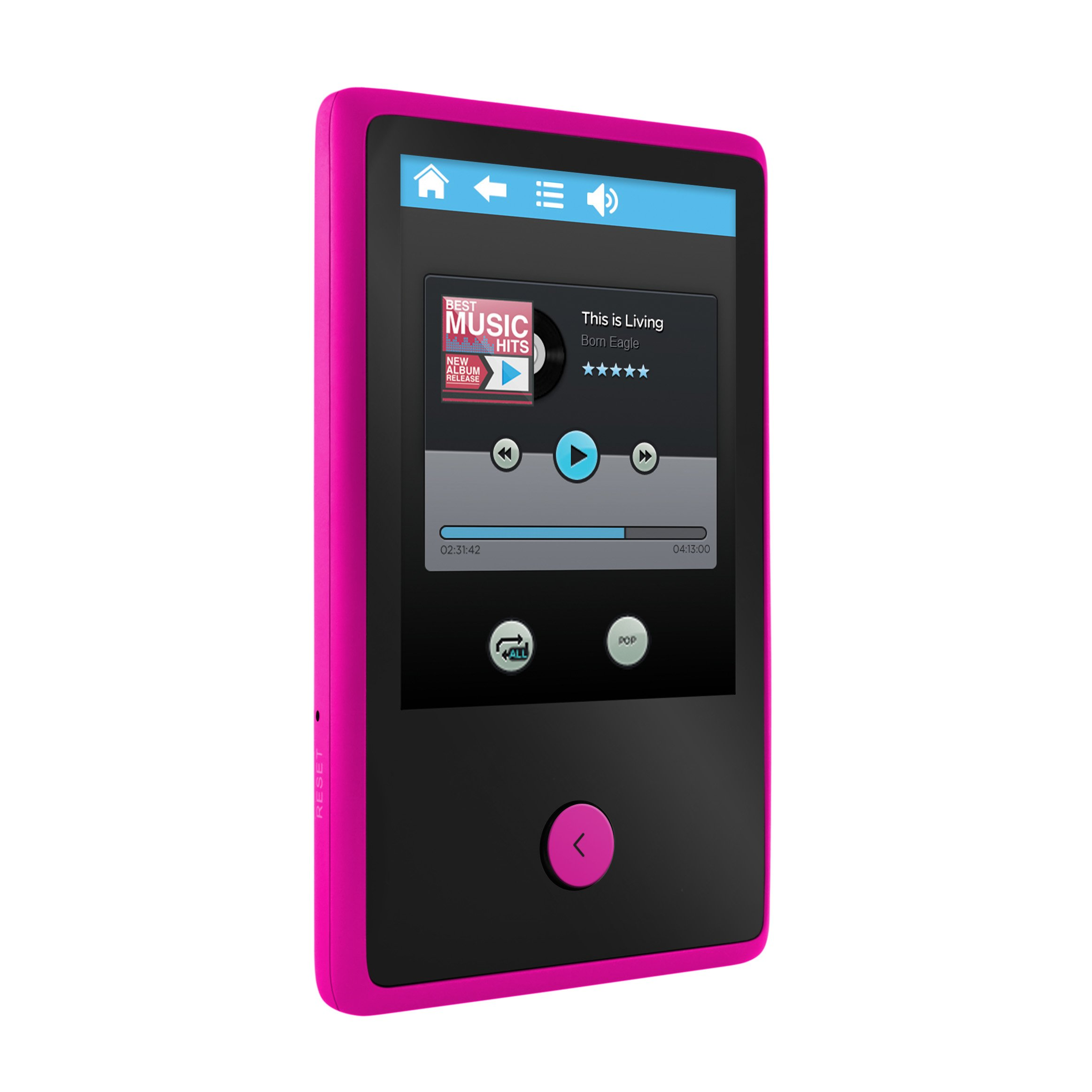 "XOVision Ematic Em318vid 8 Gb Pink Flash Portable Media Player - Audio Player, Photo Viewer, Video Player, Fm Tuner, Voice Recorder, Memory Card Reader, E-book, Fm Recorder - 2.4"" 76800 Pixel (em318vidpn)"