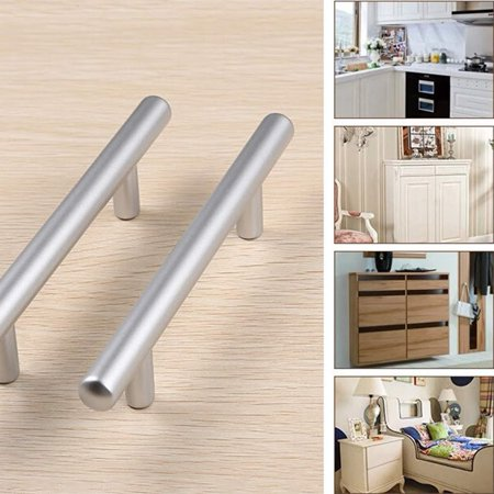 Kitchen Cabinet Door Handle Set Modern Satin Stainless Steel Handles For Cabinets Cupboards And