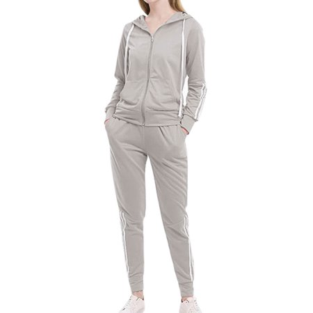 Women's Tracksuit Gym Hooded Sweatshirts + Skinny Pants Sports Jogging Outfits