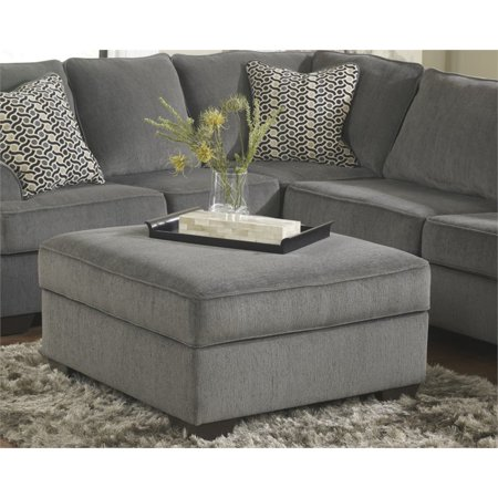 Ashley Loric Square Storage Ottoman in Smoke - Ashley Loric Square Storage Ottoman In Smoke - Walmart.com