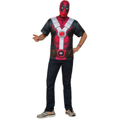 Deadpool Adult Tee Shirt Halloween Costume
