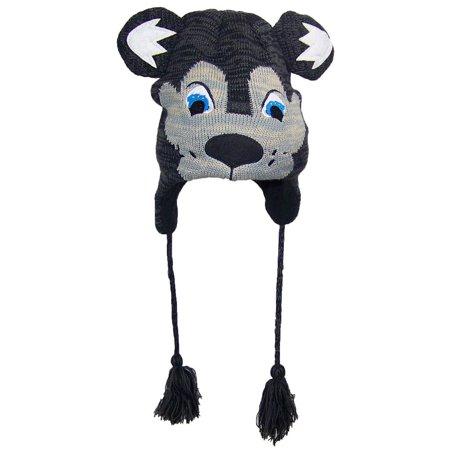 bc159964af4 Best Winter Hats - Best Winter Hats Little Kids Knit Cartoon Animal Ear  Flap Hat (One Size) - Wolf - Walmart.com