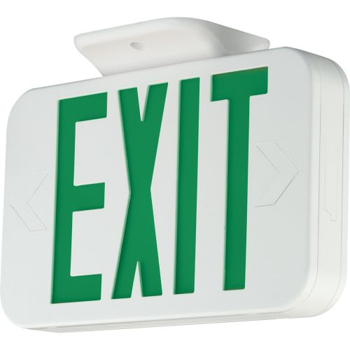 Progress Lighting PE009 LED Exit Sign with Green Letters