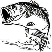 Western Recreation Large Mouth Bass Decal 6X6
