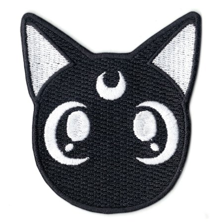 Anime Sailor Black Cat Iron On Patch (Halloween Arts And Crafts Black Cat)