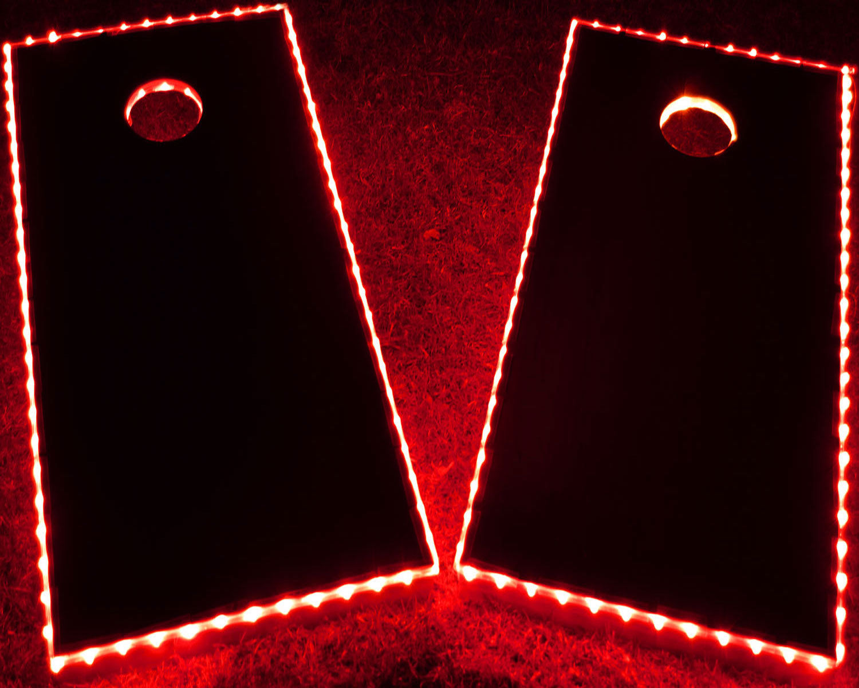 GlowCity Light Up Waterproof LED Cornhole Board Kit, Boards Not Included White by GlowCity