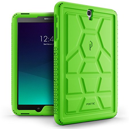 Poetic TurtleSkin Galaxy Tab S3 9.7 Rugged Case With Heavy Duty Protection Silicone and Sound-Amplification feature for Samsung Galaxy Tab S3 9.7 Green (Poetic Samsung Tab 4 7)