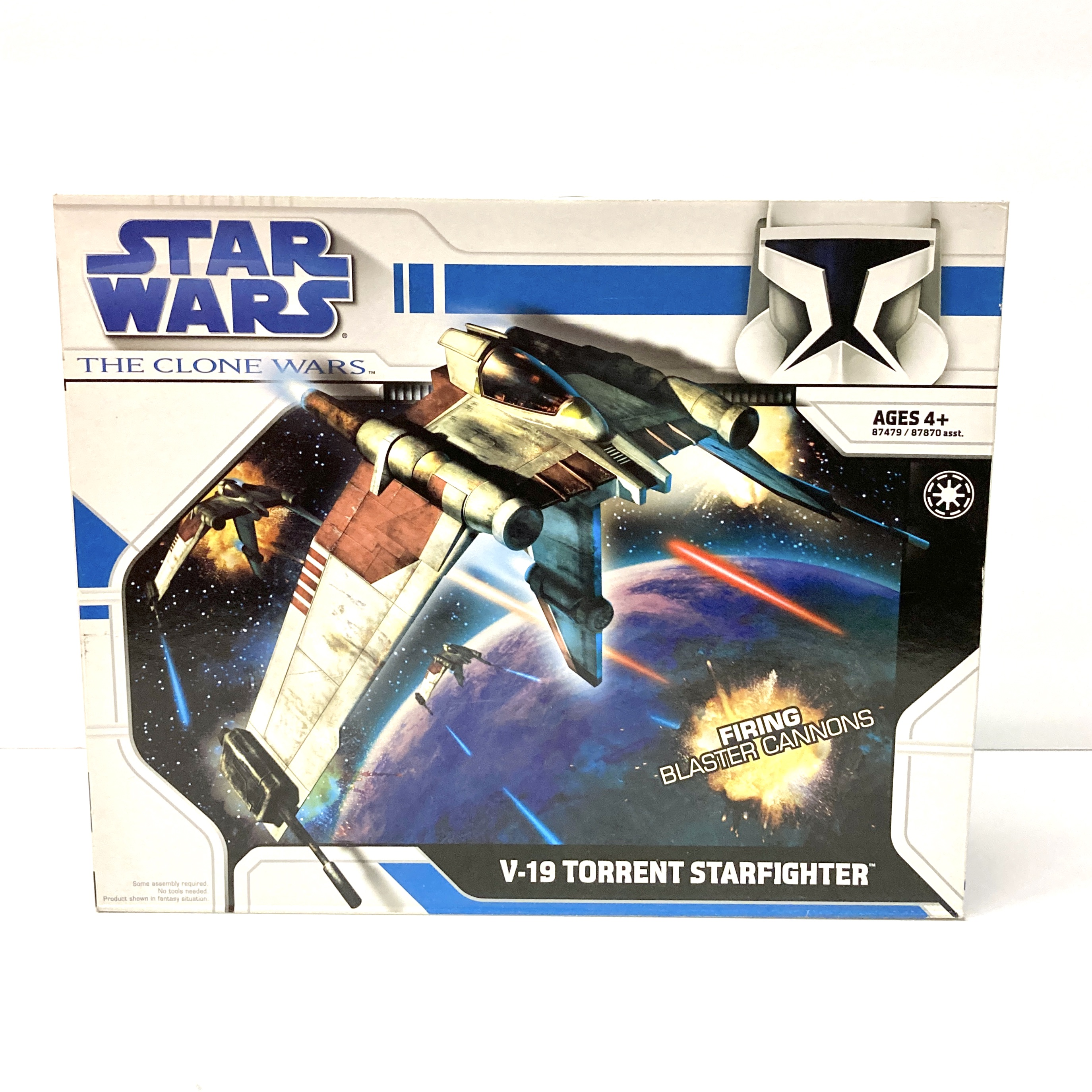 Star Wars The Clone Wars V 19 Torrent Starfighter With Firing Blaster Cannons Walmart Com Walmart Com