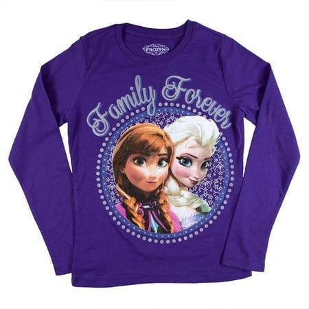 Frozen - Family Forever Girls Youth Long Sleeve - Frozen Forever