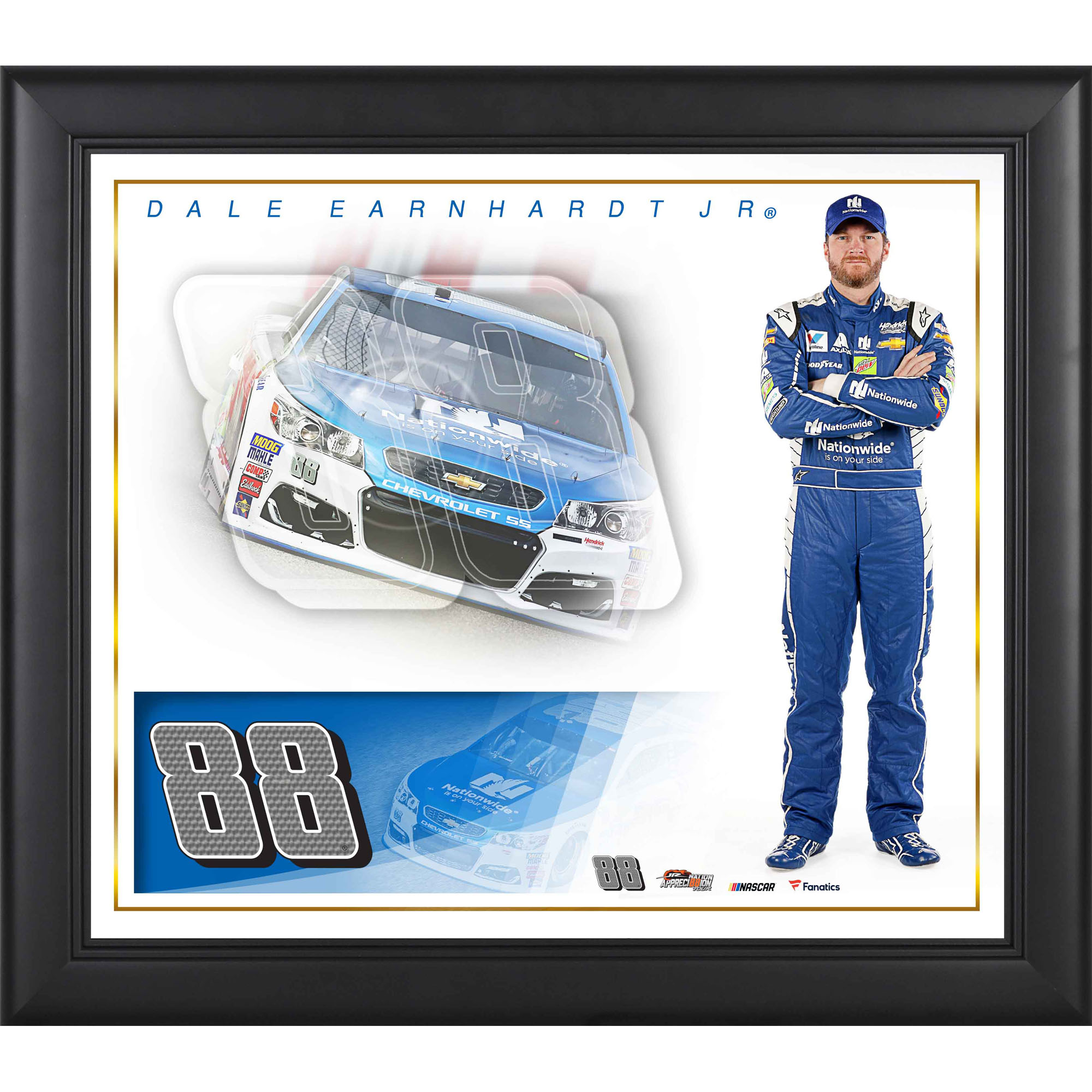 "Dale Earnhardt Jr. Framed 15"" x 17"" Nationwide Collage"