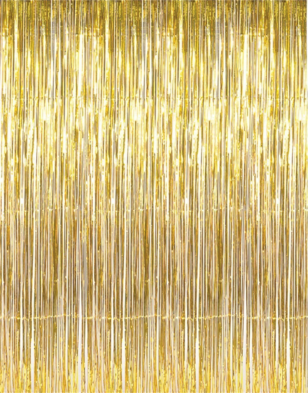 2PCS Metallic Foil Fringe Curtains 3 ft W. x 6.6 ft. For Bridal Baby ...
