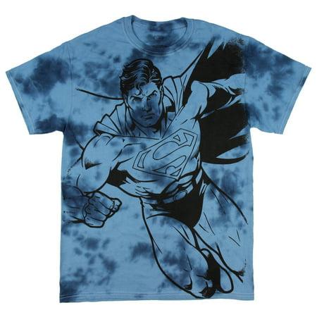 DC Comics Superman Superhero Comic Book Tie Dye Mens T-Shirt](Super Man Shirt)