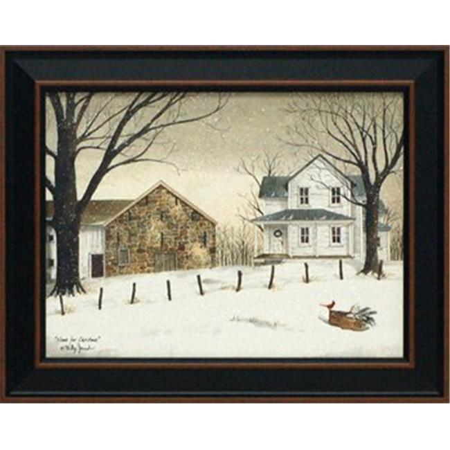 Artistic Reflections P452 16 x 20 in. Home for Christmas Christmas Landscape Art Print with Glitter Flakes - image 1 of 1