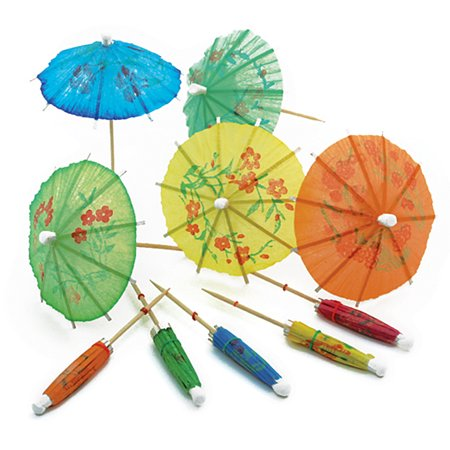 Norpro Decorative Drink Umbrellas Set of 24 Assorted Colors Cocktails/Appetizers - Umbrella Drink
