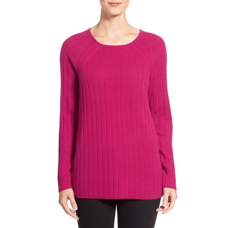 Nordstrom Collection New Pink Women Medium M Crewneck Cashmere Sweater  248 Deal