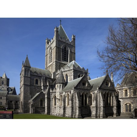 Christ Church Cathedral Rebuilt in 1878 Dublin City Ireland Canvas Art - Panoramic Images (27 x 9) (City Of Dublin Ohio Halloween)