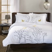 Impressions Jenee 200-Thread Count Cotton Duvet Cover Set
