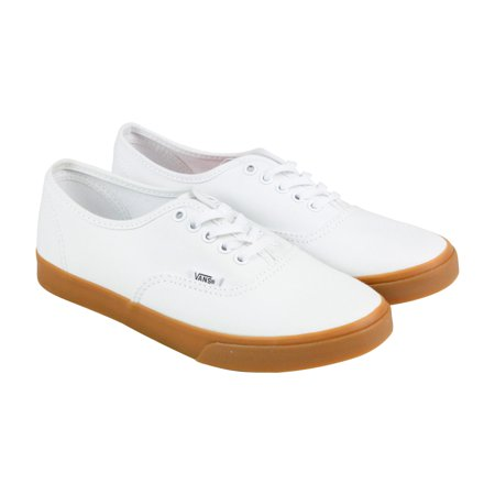 cde25732e4 Vans - Vans Authentic Lo Pro Mens White Canvas Lace Up Lace Up Sneakers  Shoes - Walmart.com