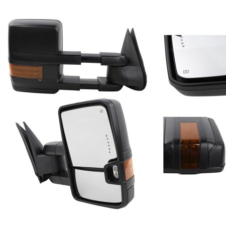 Ktaxon Design Power Heated Turn Signal Towing Mirrors For 03-06 Chevy Silverado Pair - image 3 de 7