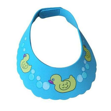 Lightahead Coffre-fort Shampooing Douche Piscine Baby Duck Cap Protection de bain doux Chapeau de lavage Bouclier cheveux pour enfants en bas âge, les bébés, les enfants et les enfants de garder l'eau hors de leurs yeux et le visage (bleu)